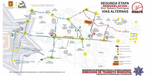 Exhortan a la comunidad UNACH a tomar medidas preventivas ante los trabajos que se realizan en el boulevard Belisario Domínguez