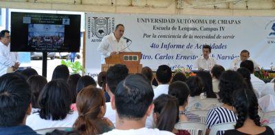 En el Campus IV Rindió 4to informe de Actividades el director de la Escuela de Lenguas Tapachula, Carlos Ernesto Cook Narváez