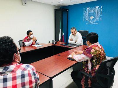 Reafirman UNACH, autoridades estatales y municipales su compromiso para que más jóvenes indígenas accedan a la educación superior
