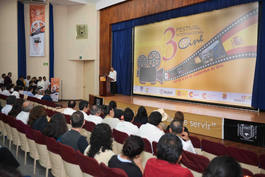 Inician las actividades de la tercera edición de Festival Internacional de Cine de la UNACH
