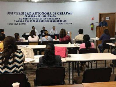 En el Campus IV, UNACH Concluyó el Diplomado Autismo: Inclusión educativa y otros trastornos del neurodesarrollo