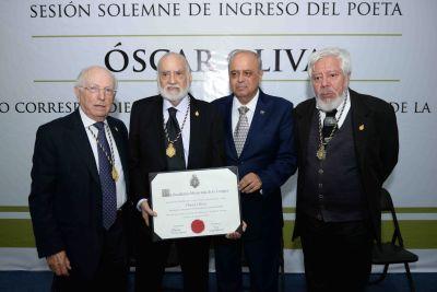 En la UNACH Distinguen al poeta  Oscar Oliva  como Miembro Correspondiente de la Academia Mexicana de la Lengua
