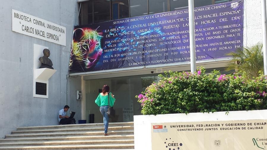 Ofrece  Biblioteca Central de la UNACH  servicio nocturno  durante el mes de mayo