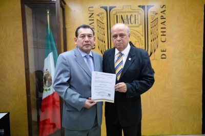 Supervisa el rector de la UNACH, Carlos Eugenio Ruiz Hernández, los avances del Programa Piloto de Educación a Distancia