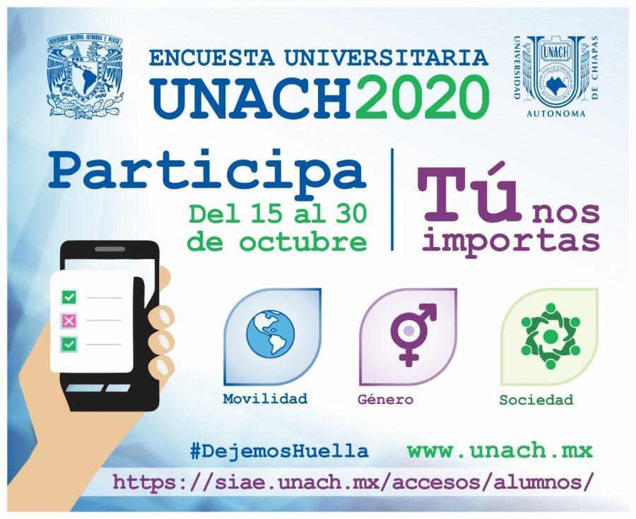 Realiza UNACH con apoyo de la UNAM encuesta sobre movilidad, género y situación social a su comunidad estudiantil