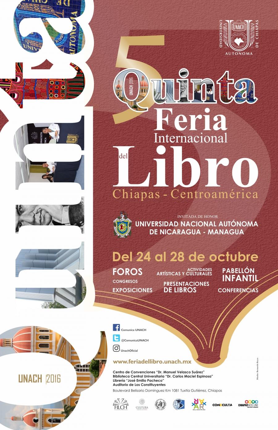 Inician las actividades de la Quinta Feria Internacional del Libro Chiapas-Centroamérica