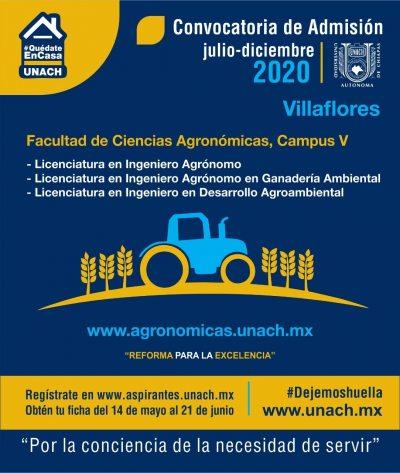 La Licenciatura en Ingeniero Agrónomo en Ganadería Ambiental una opción en la convocatoria de admisión de la UNACH