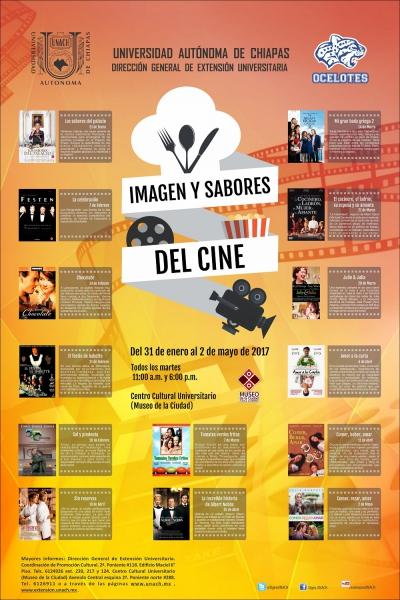 Invita UNACH para que asistan a la ciclo Imagen y Sabores del Cine