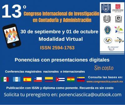 Organiza UNACH el 13º Congreso Internacional de Investigación en Contaduría y Administración