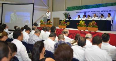 Coinciden autoridades y especialistas en el primer Foro Regional para la Consulta Democrática Nacional de la Constitución