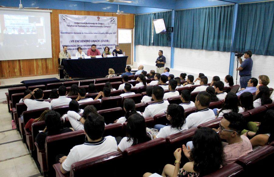 Fue UNACH sede del  Encuentro de Tecnologías de la Información y Comunicación para la Educación Intercultural y Bilingüe