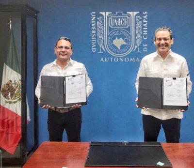 Firman UNACH  e ICTIECH un convenio de colaboración para beneficio de la comunidad científica y académica.
