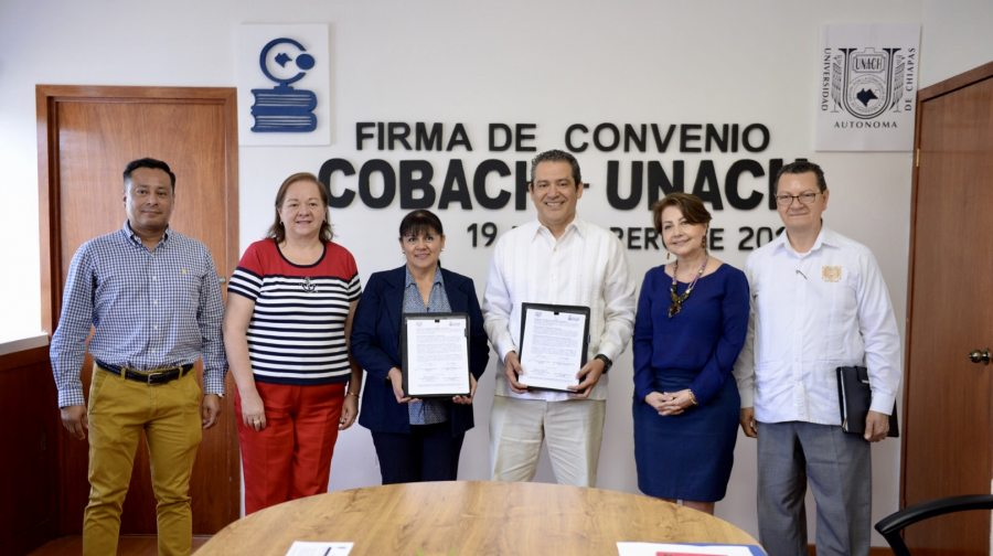Promoverán UNACH y COBACH de manera conjunta la academia, investigación, la cultura y el servicio social
