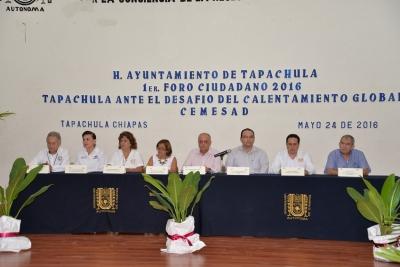Participa UNACH en el 1er Foro Ciudadano Tapachula ante el Desafío del Calentamiento Global
