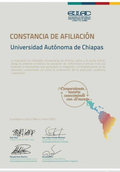 Es UNACH miembro activo de la Asociación de Editoriales Universitarias de América Latina y el Caribe