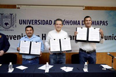 Instalará UNACH nuevas sedes académicas de la Universidad Virtual en Pueblo Nuevo y Acacoyagua