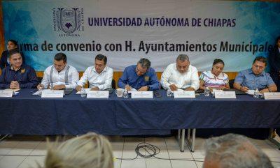 Asumen más Ayuntamientos de Chiapas el compromiso de abrir sedes académicas virtuales de la UNACH.
