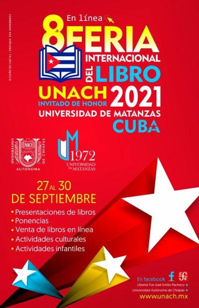 Se realizará la Octava Feria Internacional del Libro UNACH 2021