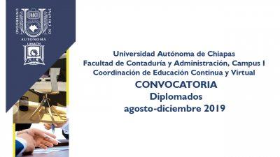 Oferta UNACH diplomados para titulación y actualización profesional
