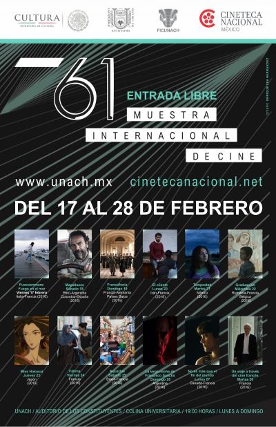 Inicia este viernes en la UNACH la edición 61 de la Muestra Internacional de Cine de la Cineteca Nacional