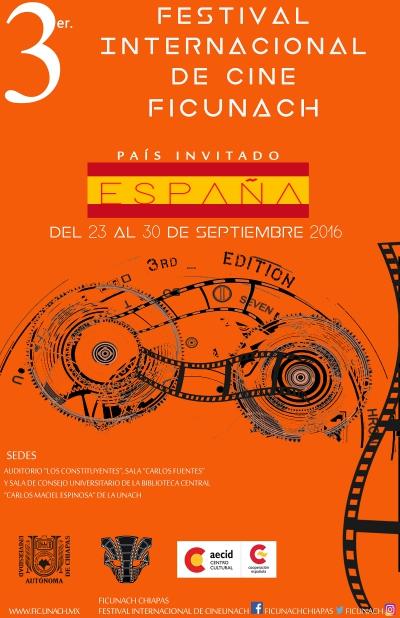 Abierta la convocatoria del 3er. Festival de Cine Internacional de la UNACH