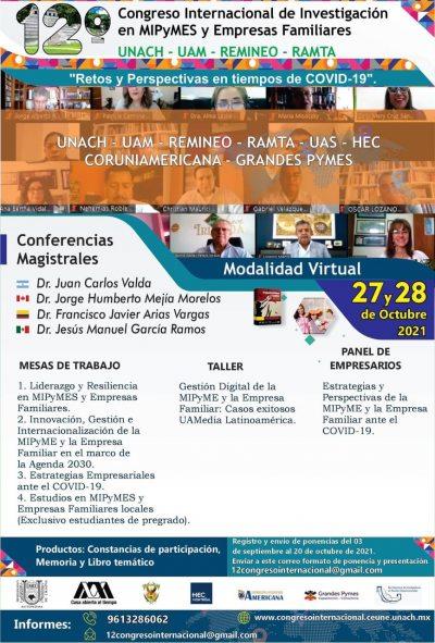 Organiza UNACH el 12º Congreso Internacional de Investigación en MIPyMES