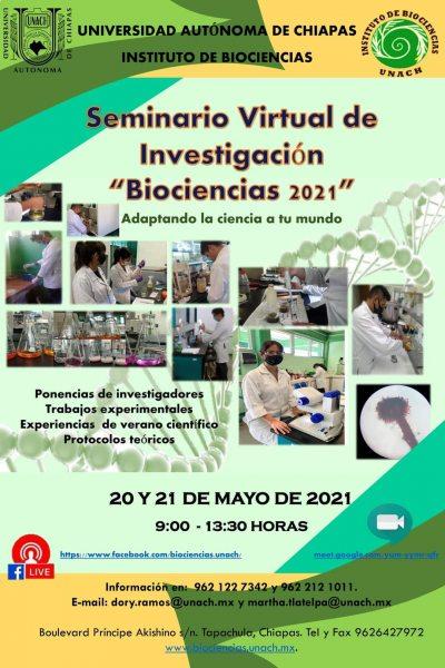 """Realizará UNACH Seminario Virtual de Investigación """"Biociencias 2021"""""""