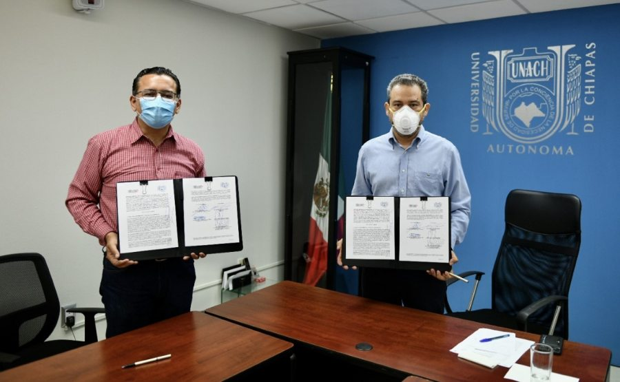 Suscriben UNACH y el Ayuntamiento de Berriozábal convenio de colaboración