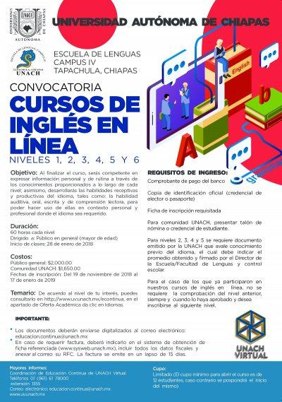 Oferta UNACH Cursos de Inglés en Línea