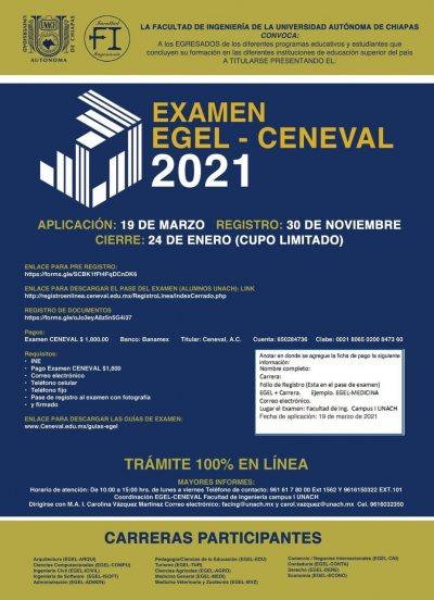 Abierta convocatoria del examen de titulación CENEVAL que se realiza en la UNACH