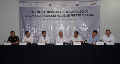 En el Campus IV Participa UNACH en el Taller del Programa de Desarrollo de la Zona Económica Especial de Puerto Chiapas